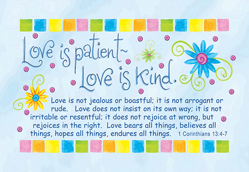 Pass It On Cards: Love Is Patient (8 pack)